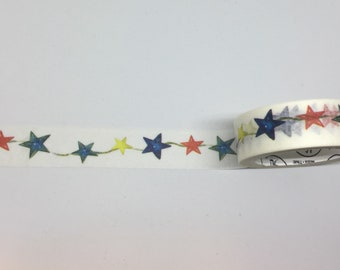 Twinkling Stars in Primary Colors Washi Tape