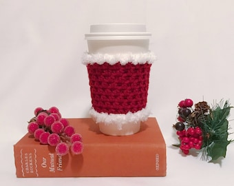 Red Crochet Coffee Cup Cozy