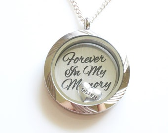 Sister Remembrance, Sister Memorial, Remembrance Gifts, Memorial Jewelry Sister, In Memory of Sister, Loss of Sister, Condolence Gift