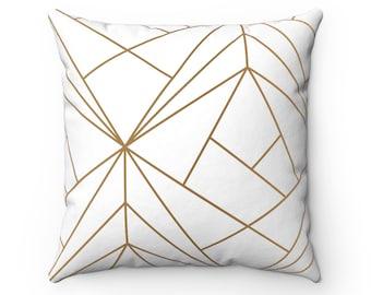 Square Pillow, minimalist design, geometric shapes, throw pillow, decorative pillow