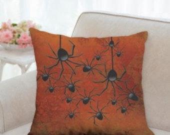 Halloween Spiders Pillow