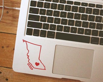 British Columbia Sticker British Columbia Decal Outline Decal iPhone Car Laptop Vinyl Decal Sticker