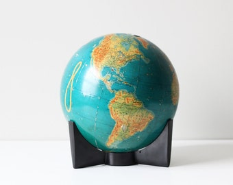 Vintage Modern Crams School World Globe