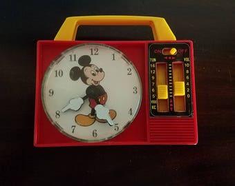 Mickey Mouse Toy Clock Radio - Row Row Row the boat
