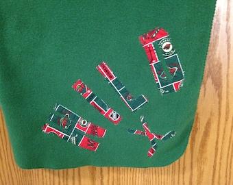 Mn Wild Hockey -Green Fleece Throw Blanket  (MNWILD/GRFC-BL)