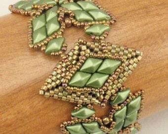 Beading Tutorial for Shuriken's Embrace Bracelet, jewelry pattern, beadweaving tutorials, instant download, PDF