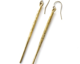Sterling Silver (Hill Tribe Silver) Stick Earring