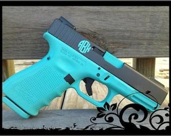 Set of 4 - Personalized Monograms for Gun - Pistol or Revolver