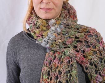 scarf made from hand spun art yarn