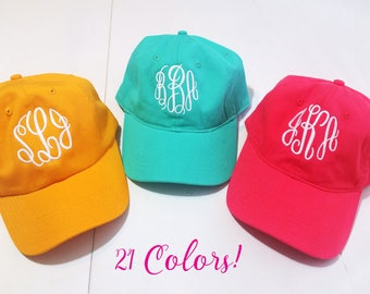 Personalized Baseball Cap, Monogram Baseball Cap, Monogram Baseball Hat, Personalized Baseball Hat, Graduation Gift, Bridesmaids Gift, Cap