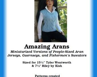 Amazing Arans PDF pattern book for Tyler Wentworth & Riley Kish