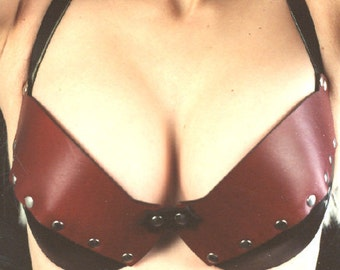 Custom Hard Leather Basic Bra
