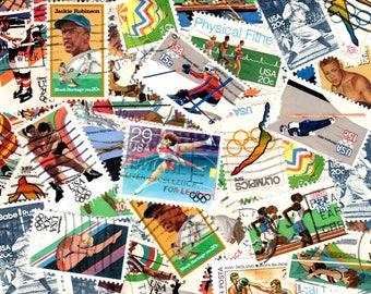 40 Sports Vintage Postage Stamps