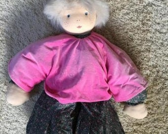 Waldorf Doll - Vintage handmade cloth doll