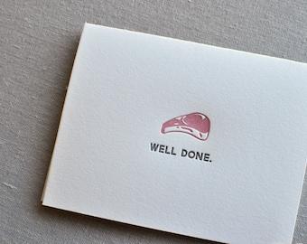 Well Done Letterpress Card & Envelope