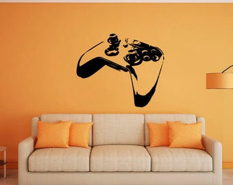 Gamer, video game, controller, xbox, Palystation, Large wall mural art, childrens room, decal, sticker