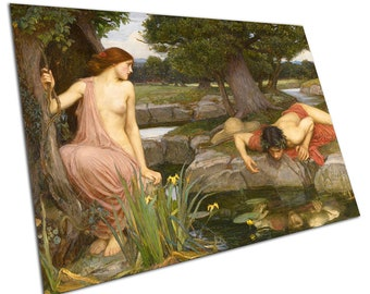 John William Waterhouse Echo and Narcissus Reproduction Poster Print IE234