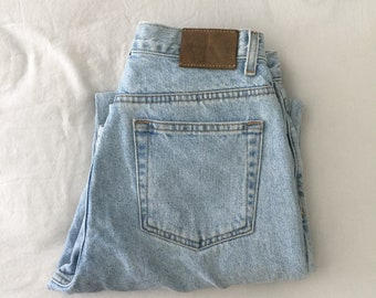 Calvin Klein High Waisted Light Wash Denim