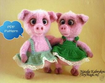 Sweet Piglets – ToyMagic. [Pigs / Piggy Crochet Pattern] PDF Instant Download