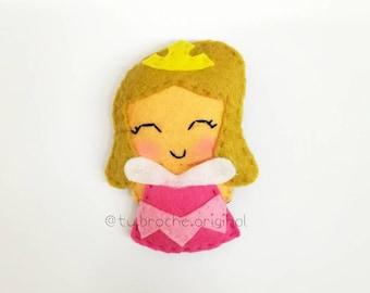Sleeping Beauty Brooch/Keychain