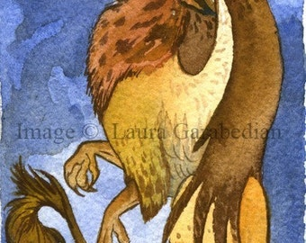 Gryphon Sentinel ACEO Giclee Print