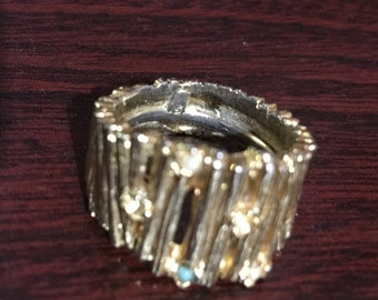 Gold Gem Ring Size 2cm