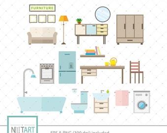 Home clipart , Interior Design clipart, vector graphics, furniture clipart, digital clip art, digital images -  CL 149