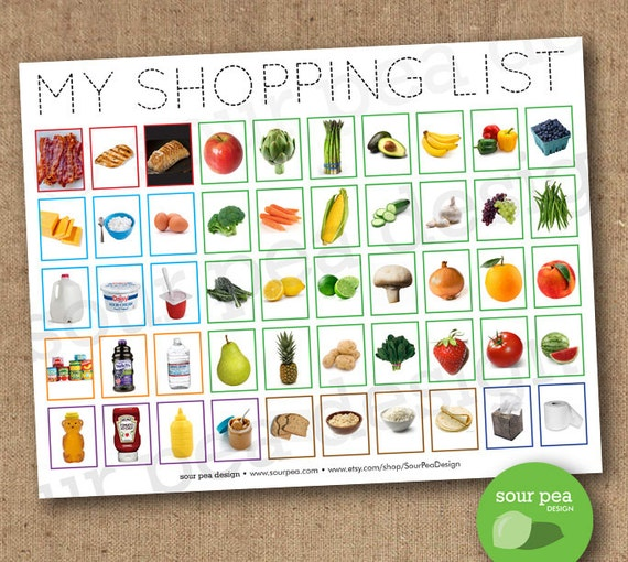 Instant Download My Shopping List Grocery List For Kids