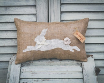 Rabbit, Bunny, Easter Bunny Decorative Pillow Decor Pillow Easter Pillow Spring Pillow 15x10 accent pillow