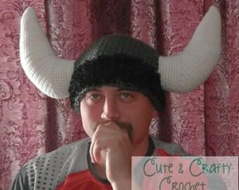 Crochet PDF Pattern - Mighty Viking Helmet - INSTANT DOWNLOAD