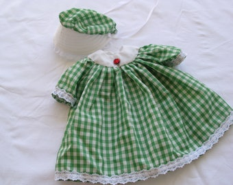 Doll Dress & Bonnet