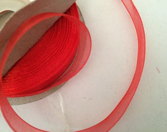 Organza Ribbon 10 mm roll of 25 m for all red design