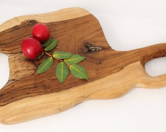 WINDALF Cutting Board ~ ANIKA ~ h: 2.5 cm - with Handle - Handwork made of Rootwood (s514)