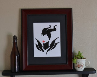 Illustrated Maleficant Wall Art