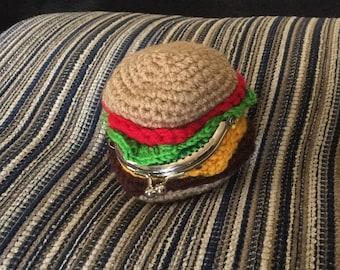 Hamburger amigurumi coin purse