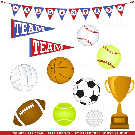Sport Clip Art Team Sports Clipart Soccer Baseball