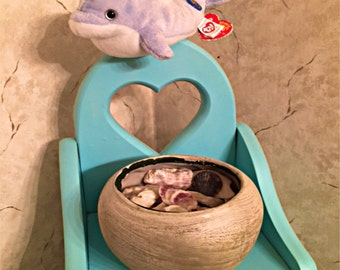 A Tisket, A Tasket, A Plain Little Container.......Shell Decor, Coastal Home Decor, Nautical Decor, Seashells, Beach Decor
