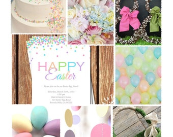 Easter Brunch Theme - Party Inspiration Board, Ebook, PDF
