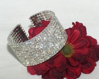 crystal cuff bracelet, wedding cuff bracelet, bridal cuff bracelet, cuff bracelet, crystal cuff, rhinestone cuff bracelet