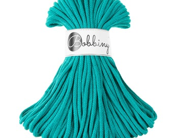 Wild mint macrame cotton cord - Bobbiny - 54 yards (50 meters), 0.2'' (5mm) thick
