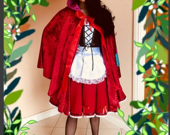 Little Red Riding Hood Costume ,Little Red Riding Hood dress and cape
