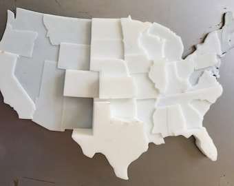3D Printed Map | Infographic Fridge Magnet | Tornado Data Visualization