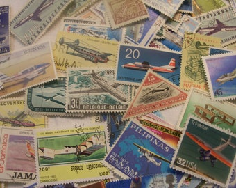30 Airplane postage stamps, Vintage stamps, Postage Stamps, Antique Stamps, Antique Planes, Jets