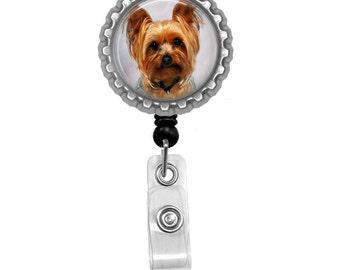 Yorkshire Terrier Yorkie Id Badge Reel Lanyard Name Tag Holder