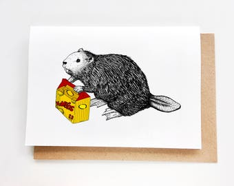 Just because card etsy funny birthday card beaver with yumbits just because card carte danniversaire bookmarktalkfo Gallery