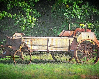 Antique Farm Equipment Photography Print 2, Old Farm Equipment Print, Antique Photo Art, Wall Art, Home Decor