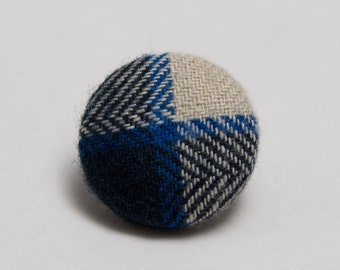 """""""Out of the Woods"""" Plaid Lapel Button"""