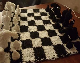 Crocheted Chess Set