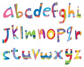 Brights Nursery Art, Alphabet Nursery Art, Alphabet Poster, Alphabet Print, ABC Wall Art Print, Kids Room Decor, Nursery wall decor, ABC art