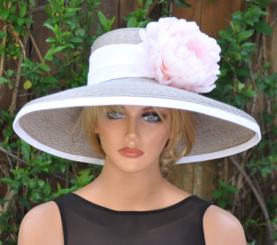 Wedding Hat, Dressy Hat, Formal Hat, Derby Hat, Ascot Hat, Special Occasion Hat, Taupe Hat